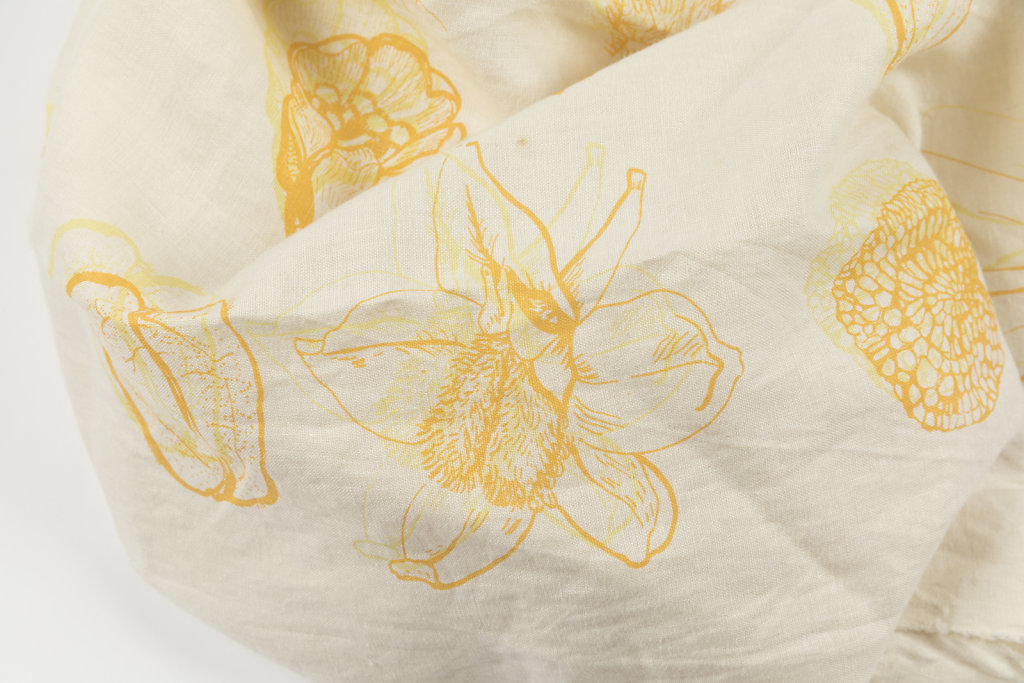 Botanicals on linen